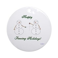 Fencing Holiday Ornament (Round)