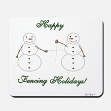 Fencing Holiday Mousepad