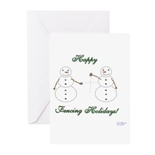 Fencing Holiday Greeting Cards (Pk of 20)