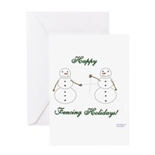 Fencing Holiday Greeting Card