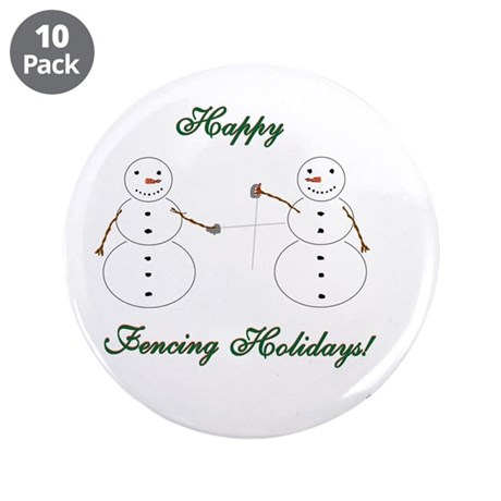 "Fencing Holiday 3.5"" Button (10 pack)"