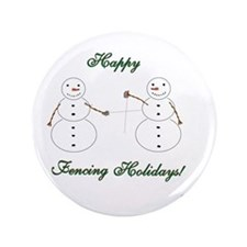 """Fencing Holiday 3.5"""" Button"""