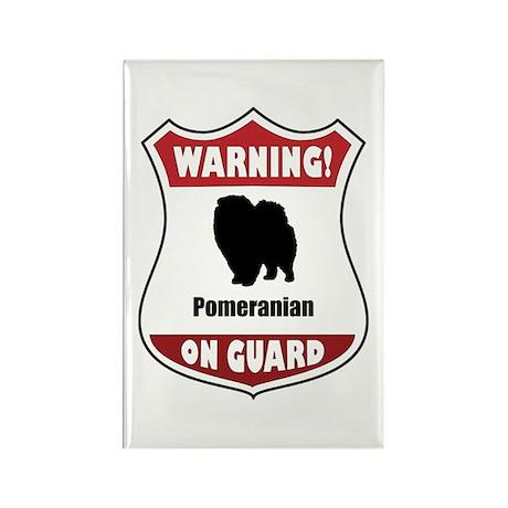Pomeranian On Guard Rectangle Magnet