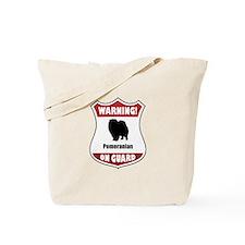 Pomeranian On Guard Tote Bag