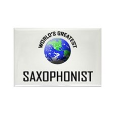 World's Greatest SAXOPHONIST Rectangle Magnet