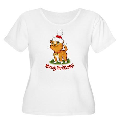 Meowy Christmas Women's Plus Size Scoop Neck T-Shi