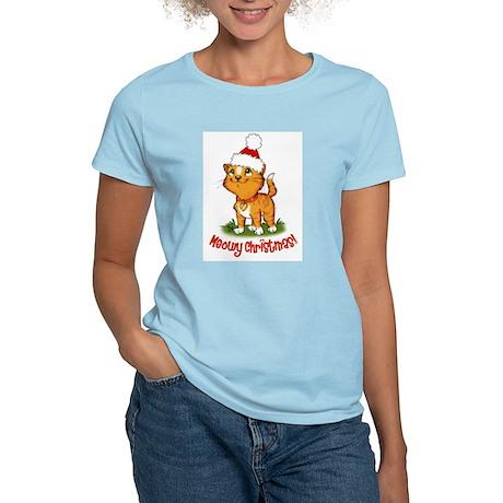 Meowy Christmas Women's Light T-Shirt