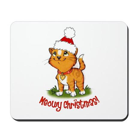 Meowy Christmas Mousepad