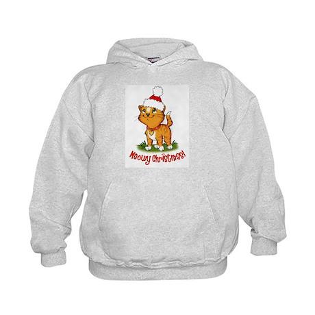 Meowy Christmas Kids Hoodie