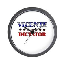 VICENTE for dictator Wall Clock