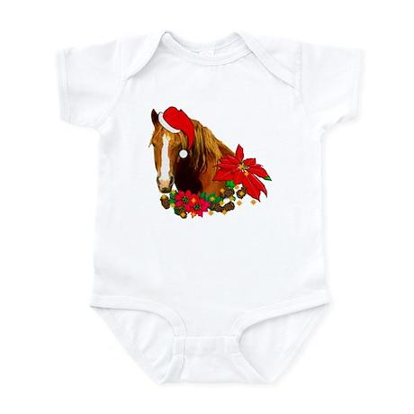 Christmas Horse Infant Bodysuit