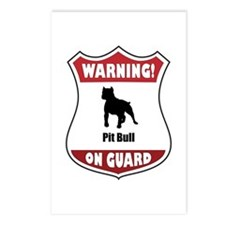 Pit Bull On Guard Postcards (Package of 8)