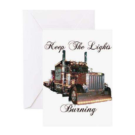 Keep The Lights Burning Greeting Card