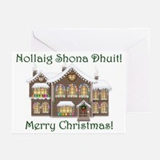 Gaelic Christmas House Cards (Pk of 20)