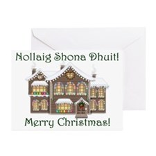 Gaelic Christmas House Cards (Pk of 10)