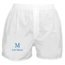 M is for Mason Boxer Shorts