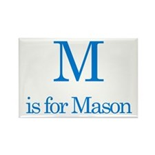 M is for Mason Rectangle Magnet (100 pack)