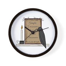 Simple Pleasures Wall Clock