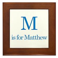 M is for Matthew Framed Tile