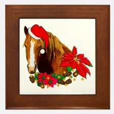 Christmas Horse Framed Tile