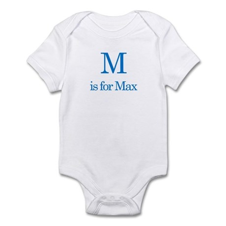 M is for Max Infant Bodysuit