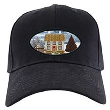 Merry Christmas Cottage Baseball Hat