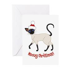 Christmas Siamese Greeting Cards (Pk of 10)