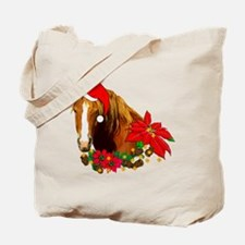 Christmas Horse Tote Bag