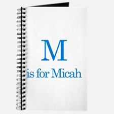 M is for Micah Journal