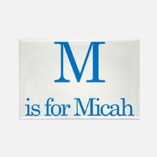 M is for Micah Rectangle Magnet (10 pack)
