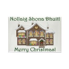 Gaelic Christmas House Magnets (10 pack)