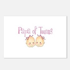 Papa of Girl Twins Postcards (Package of 8)