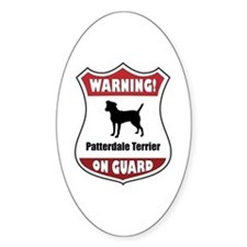 Patterdale On Guard Oval Decal