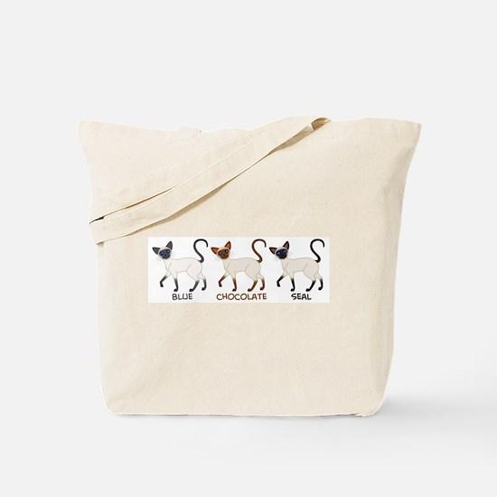 Three Siamese Cats Tote Bag