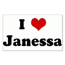 I Love Janessa Rectangle Decal