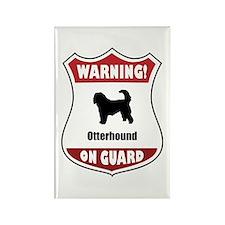 Otterhound On Guard Rectangle Magnet