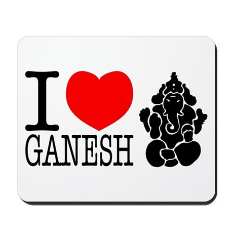 I Love Ganesh Mousepad