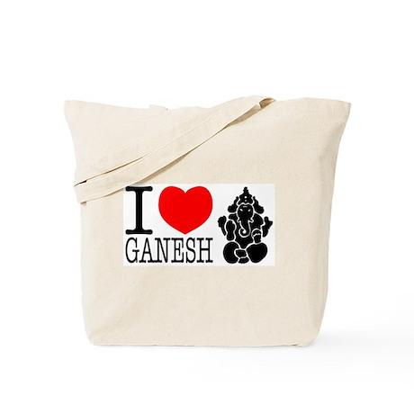 I Love Ganesh Tote Bag