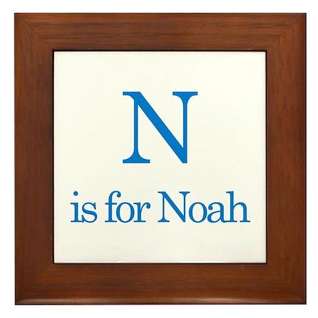 N is for Noah Framed Tile