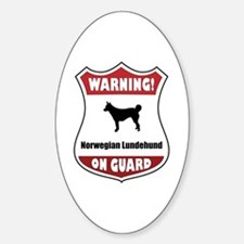 Lundehund On Guard Oval Decal