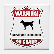 Lundehund On Guard Tile Coaster