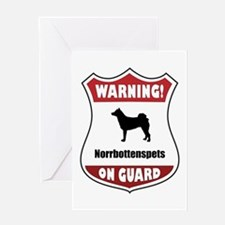 Norrbottenspets On Guard Greeting Card