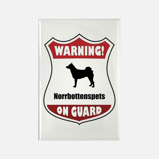 Norrbottenspets On Guard Rectangle Magnet (100 pac