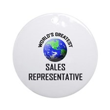 World's Greatest SALES REPRESENTATIVE Ornament (Ro