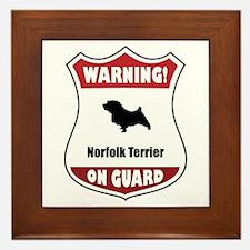Norfolk On Guard Framed Tile