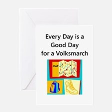 Volksmarch Greeting Card