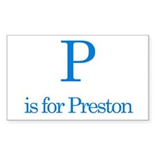 P is for Preston Rectangle Decal