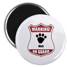 """Mutt On Guard 2.25"""" Magnet (10 pack)"""