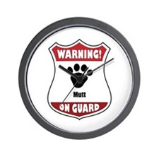 Mutt On Guard Wall Clock