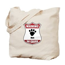 Mutt On Guard Tote Bag